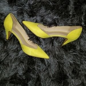 Zara Yellow Kitten Heels